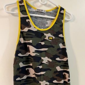 Addicted Camo tank top